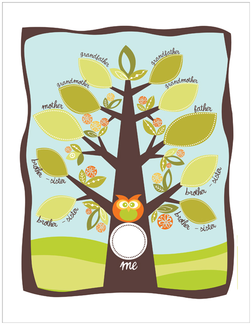 Blank Family Tree Clipart - Clipart Kid