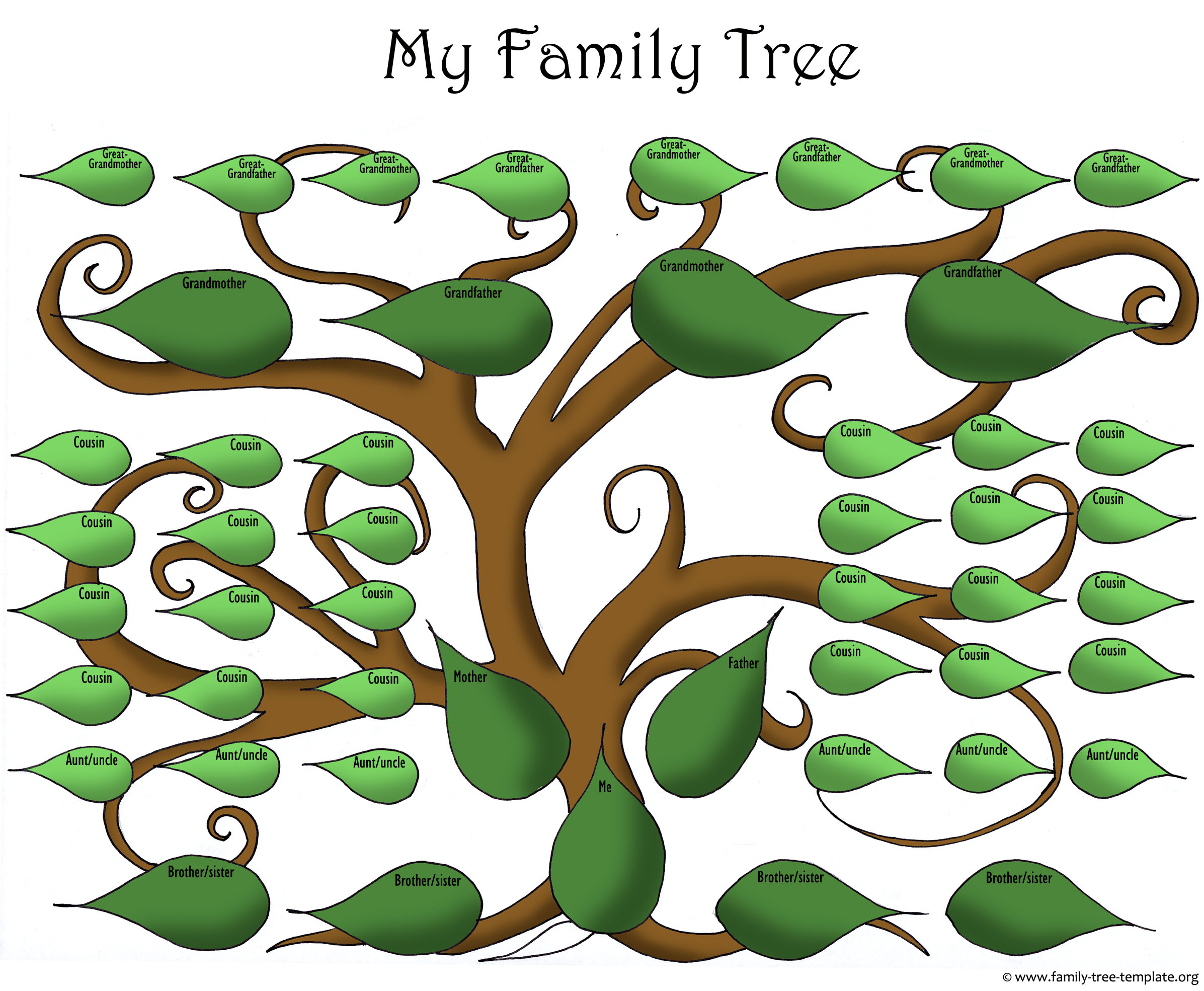 Blank Family Tree To Make Your Kids Genealogy Chart   Family Tree