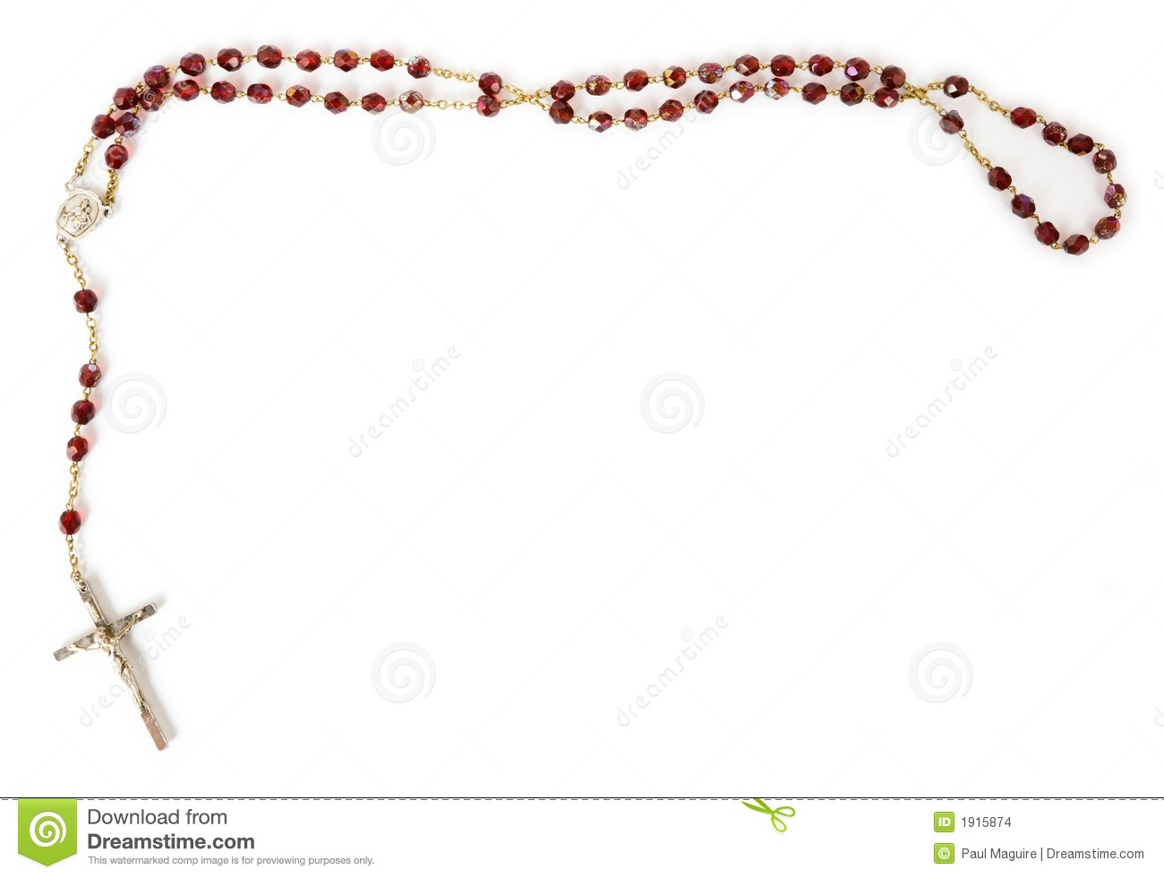 Catholic Rosary Beads Clipart Rosary Beads Isolated On White