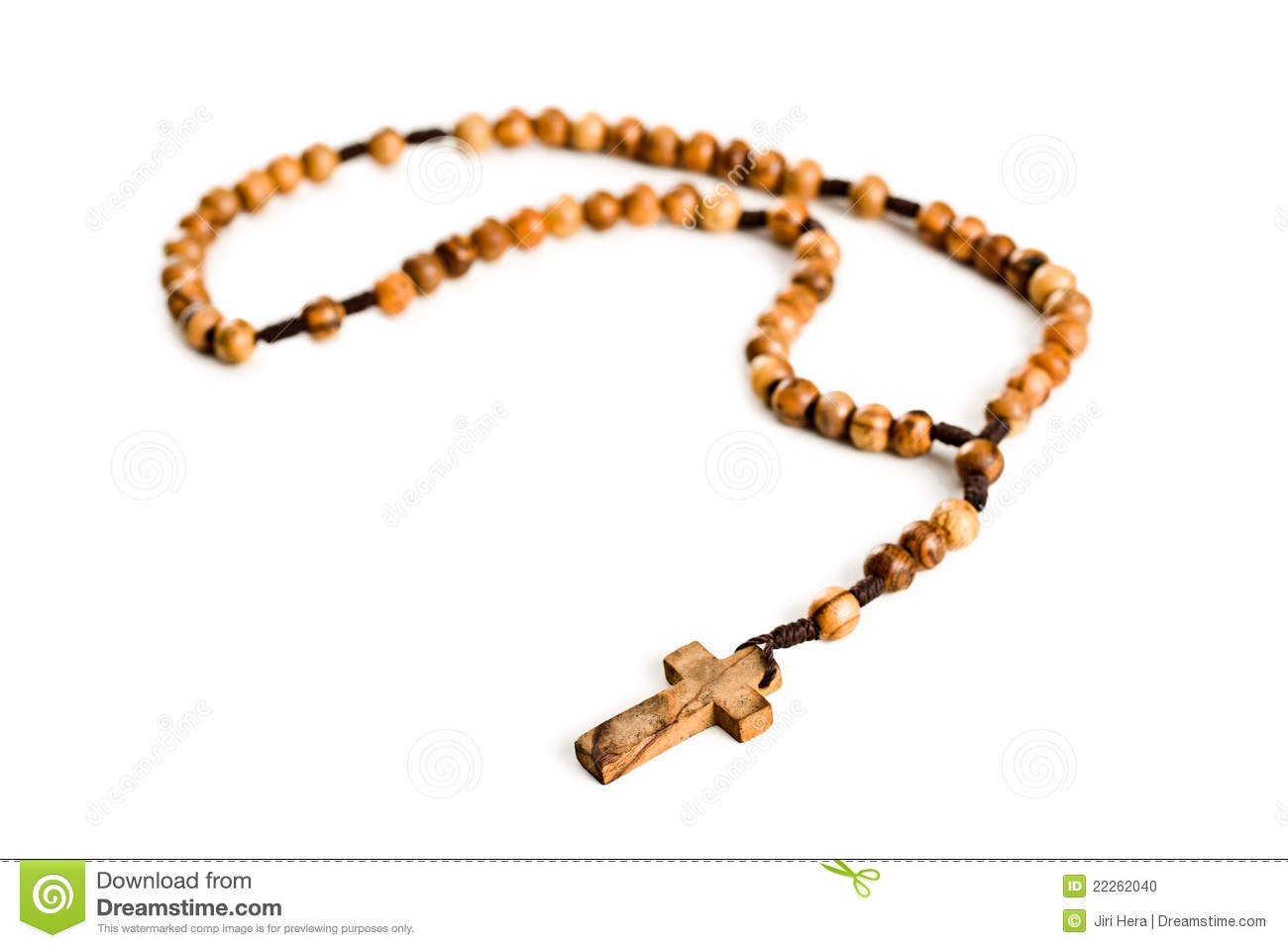 Catholic Rosary Beads Clipart Wooden Rosary Beads On White