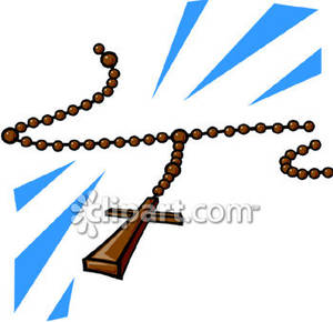 Catholic Rosary Beads   Royalty Free Clipart Picture