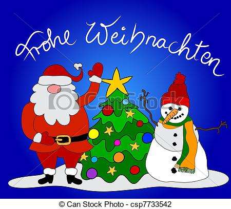 Clip Art Of German Christmas Card Csp7733542   Search Clipart