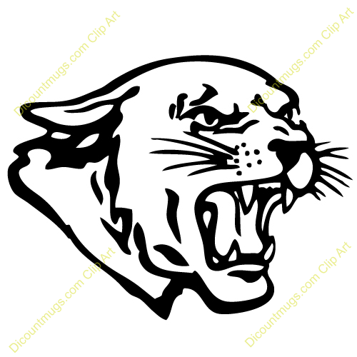 Clipart 12325 Panther Head   Panther Head Mugs T Shirts Picture