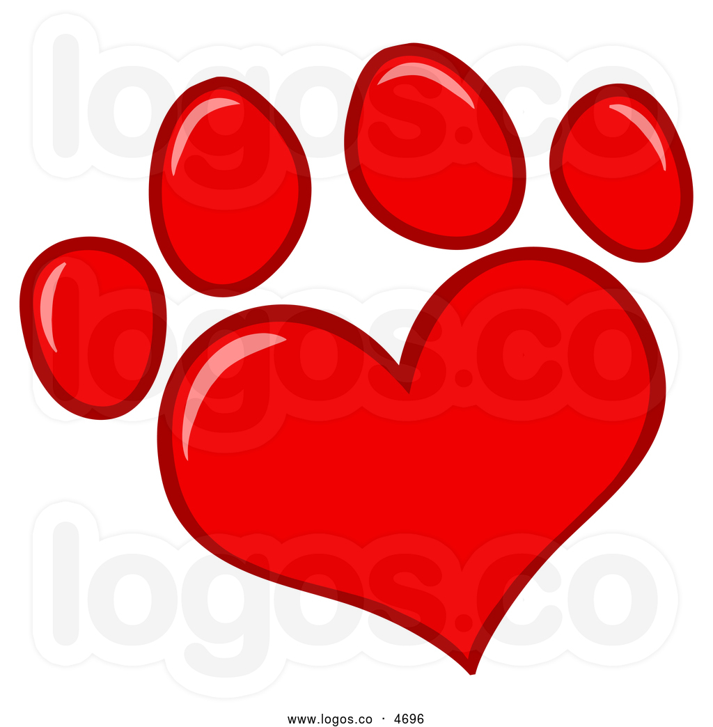 Dog Paw Heart Clip Art Clipart Panda Free Clipart Images