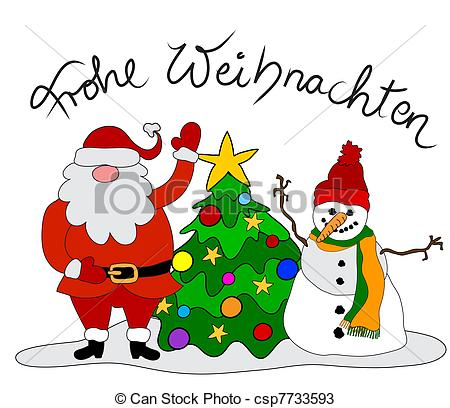 Drawings Of German Christmas Card Csp7733593   Search Clipart