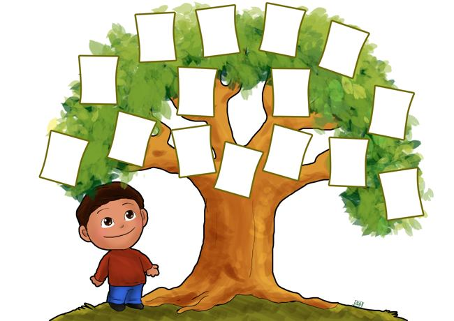 Family Tree Template For Kids   Free Reference Images