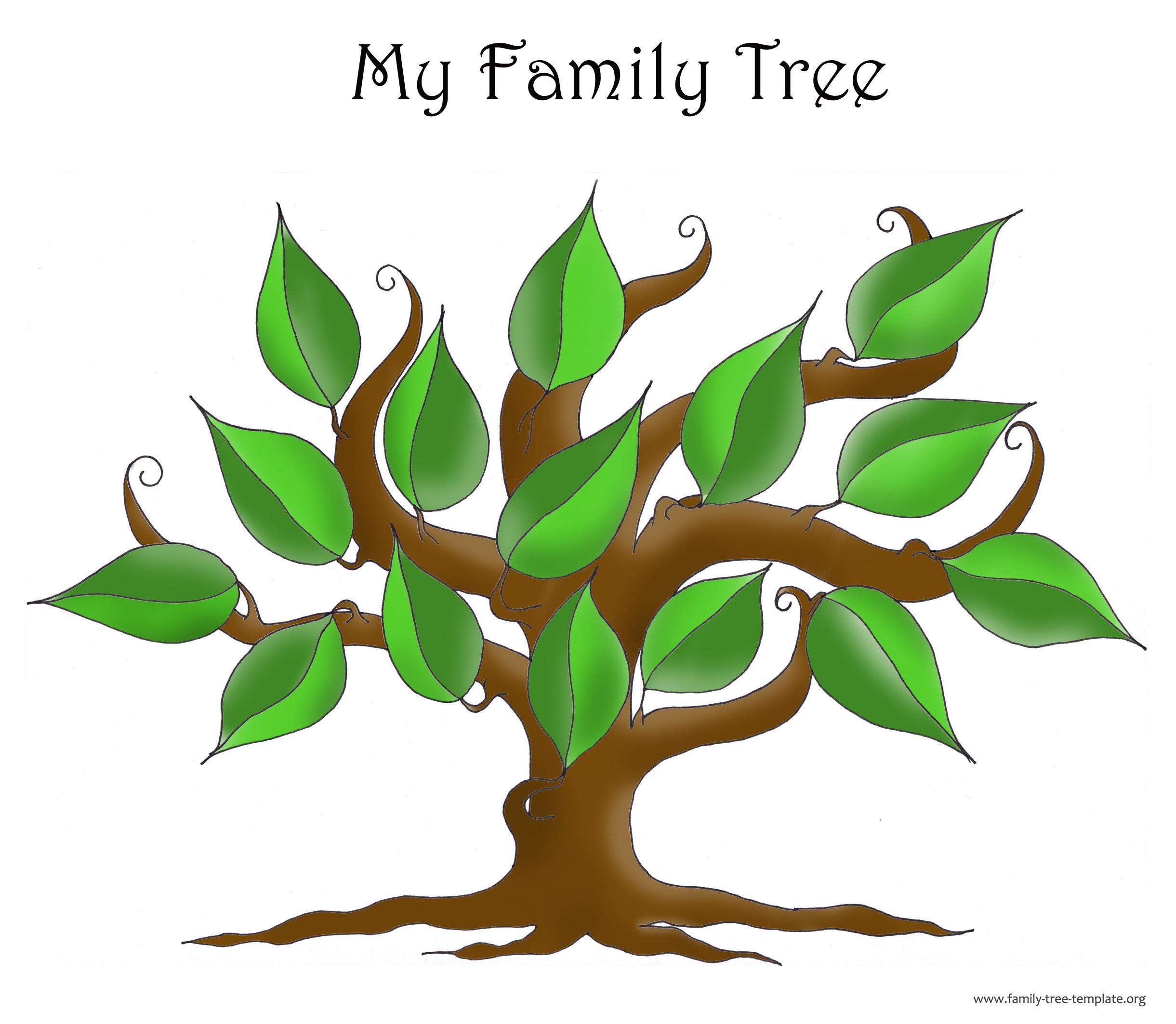 Family tree clip art