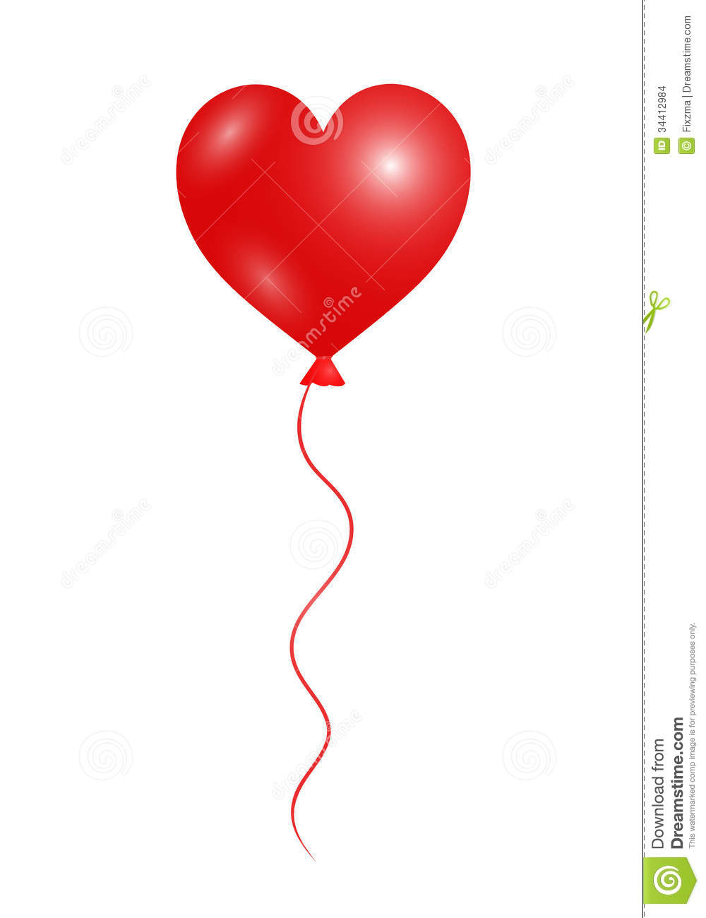 Heart Balloon Stock Images   Image  34412984