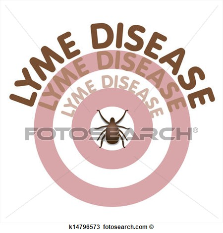 Lyme Disease Graphic Illustration Bulls Eye Rash Text In Concentric