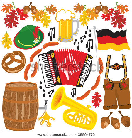 Oktoberfest Party Clipart Elements Isolated On White Shutterstock  Eps