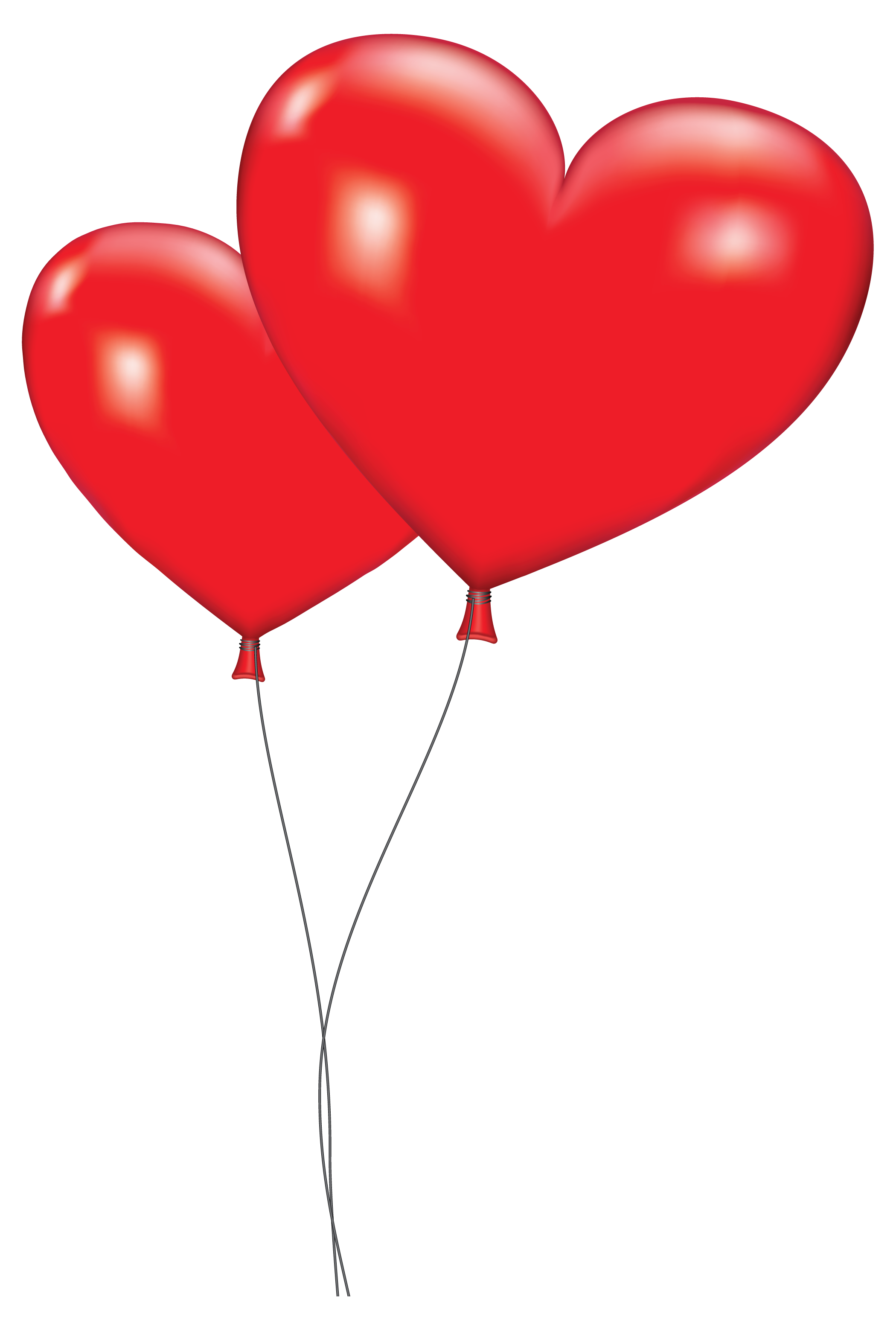 Orange Balloon Clipart Large Red Heart Balloons Png Clipart Picture