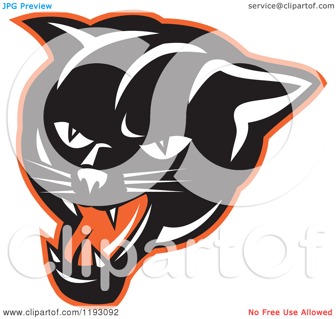 Panther Face Clip Art Clipart Of A Growling Panther