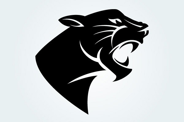 Panther Head Vector Silhouette