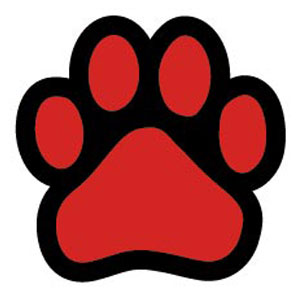 Red dog paw logo - photo#15