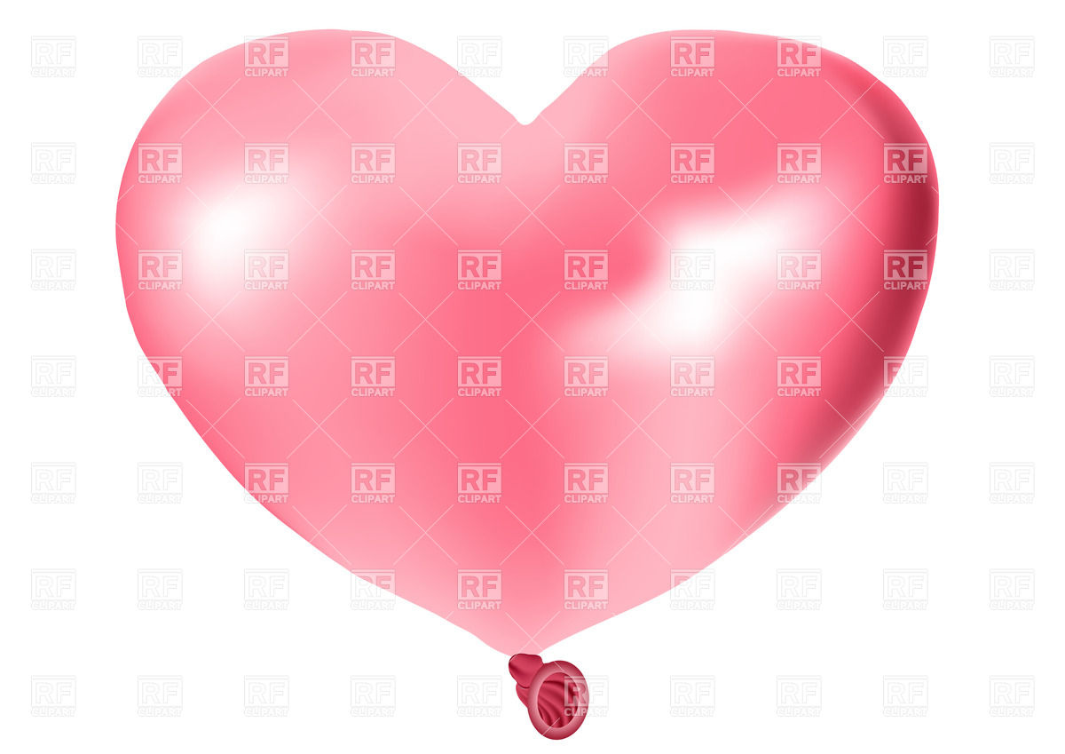 Pink Heart Shaped Balloon Download Royalty Free Vector Clipart  Eps