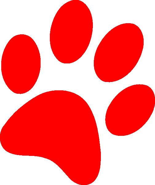 Red Puppy Paw Print Clip Art At Clker Com Vector Clip Art Online