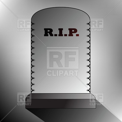 Rest In Peace   Gravestone Download Royalty Free Vector Clipart  Eps