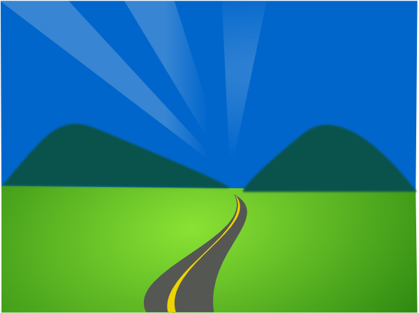 Roadway Free Clipart - Clipart Kid