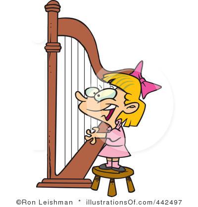 Royalty Free  Rf  Harp Clipart