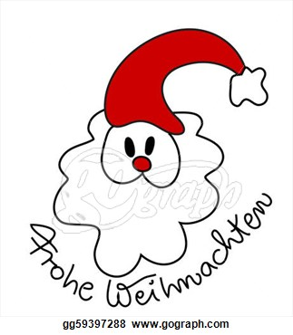 Stock Illustration   German Christmas Card  Clipart Drawing Gg59397288