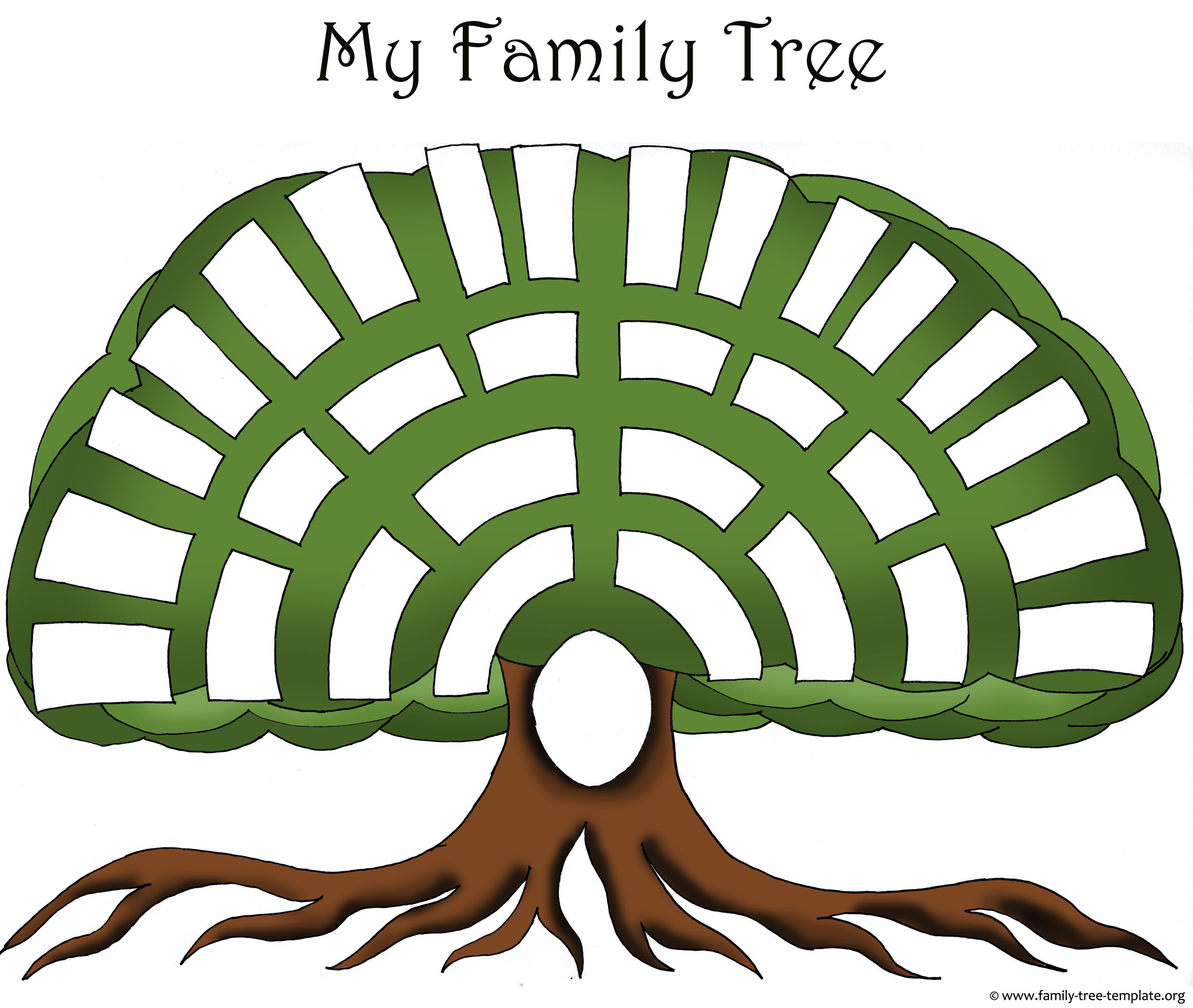 Tree Templates   Genealogy Clipart For Your Ancestry Map   Family Tree