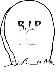 With Rest In Peace Written On It   Royalty Free Clipart Picture