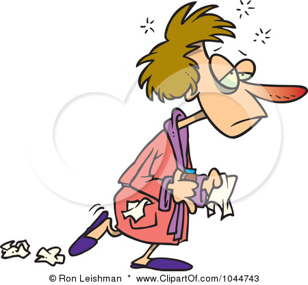 1044743 Royalty Free Rf Clip Art Illustration Of A Cartoon Flu Sick