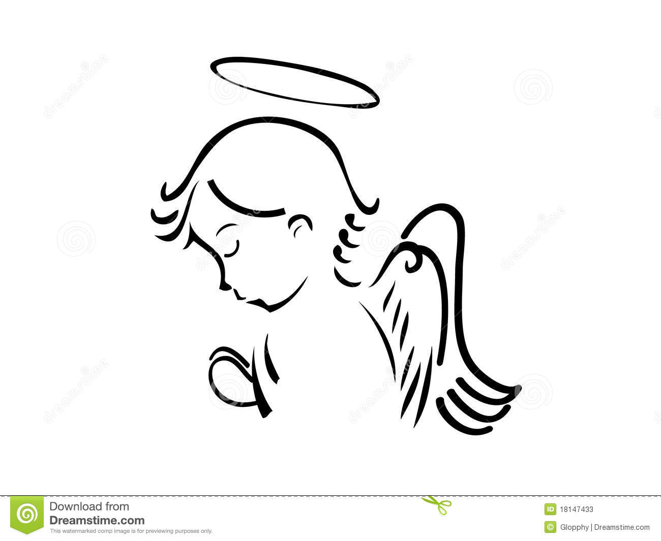 free black angel clipart - photo #29