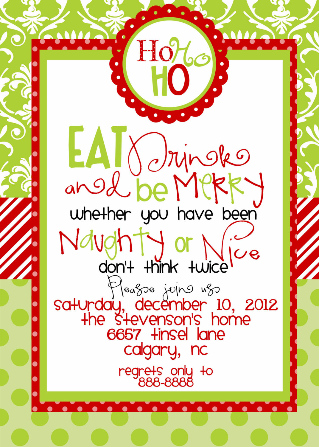 free clipart christmas invitation - photo #8