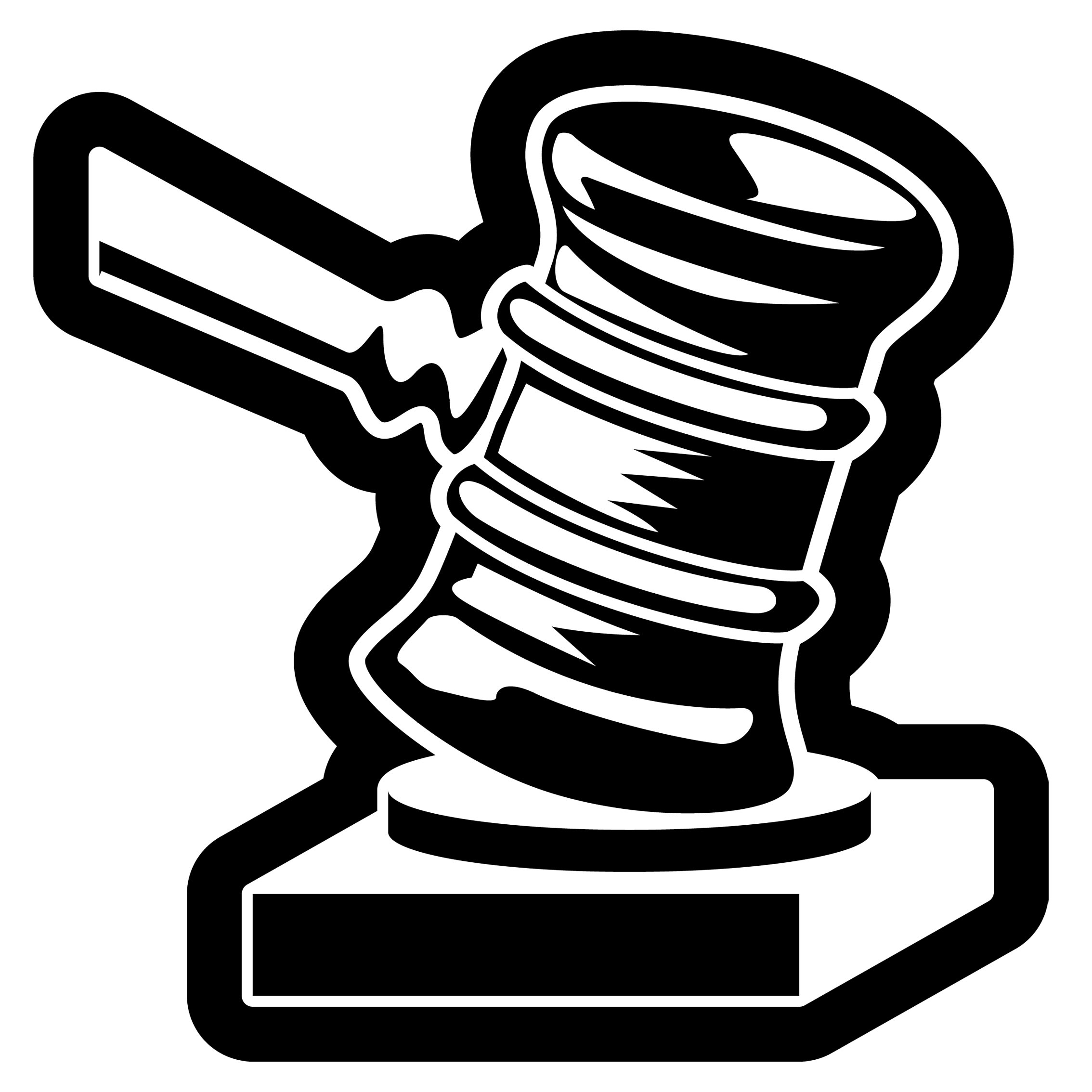 Clipart Justice Hammer   Royalty Free Vector Design