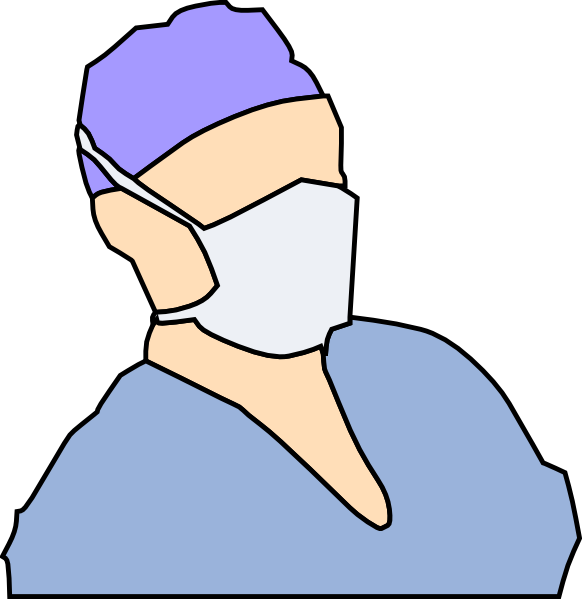 Doctor Wearing Sanitary Mask Clip Art At Clker Com   Vector Clip Art