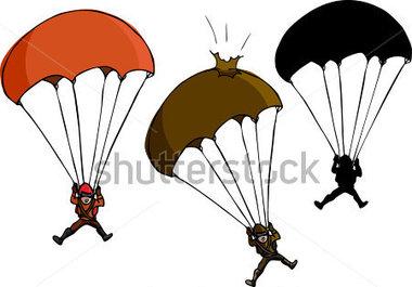 Fallschirm Und Silhouette Variationen Stock Vektorgrafik   Clipart Me