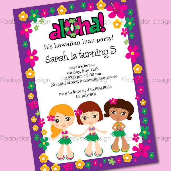 Hawaiian Girls Hawaiian Party Themed Birthday Party  Luau Party