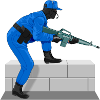 Image  Police   Law Enforcement Clip Art   S W A T  Sniper On Rooftop