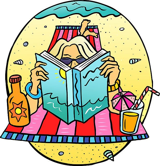 clipart of summer reading - photo #38