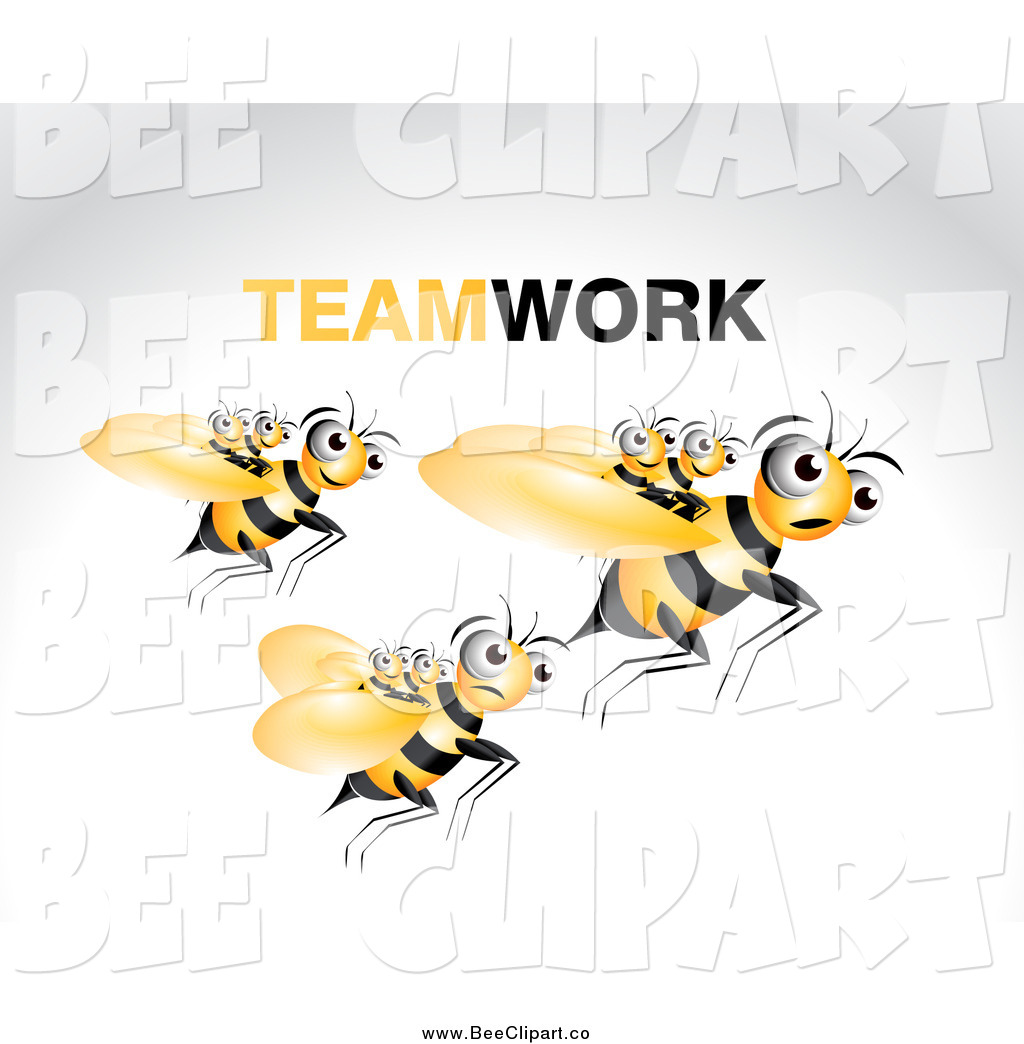 Larger Preview  Vector Clip Art Of A Bees Carrying Young Ones On A Fly