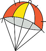Parachutes Stock Illustrations   Gograph