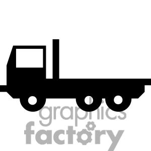 Gmc Flat Bed Truck With Clipart - Clipart Kid
