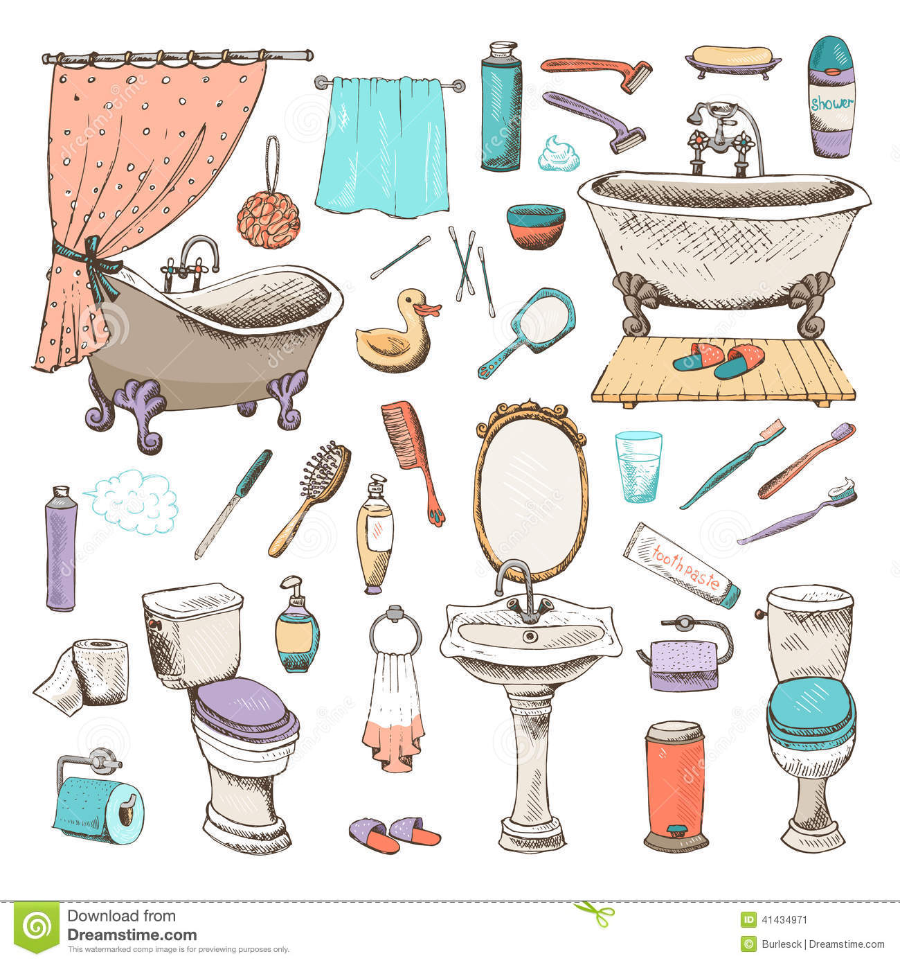 Hygene items clipart clipart suggest for Bathroom goods