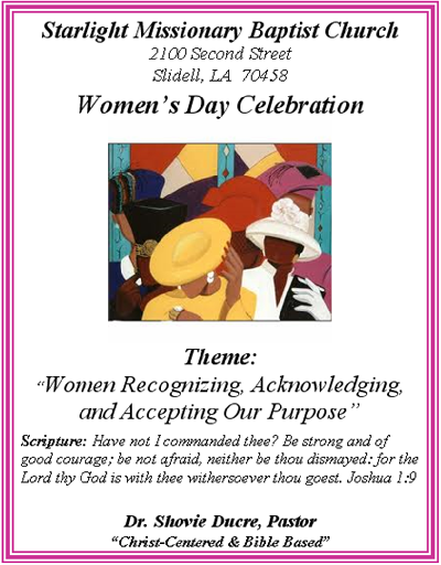 Women's Day Program Outline - Bing images