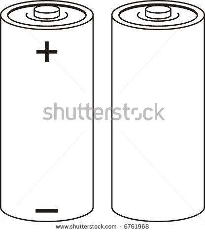 Battery With Signs Of Positive And Negative 24660 Car Vector Clipart