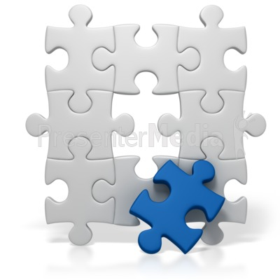Blue Puzzle Piece Missing   Business And Finance   Great Clipart For