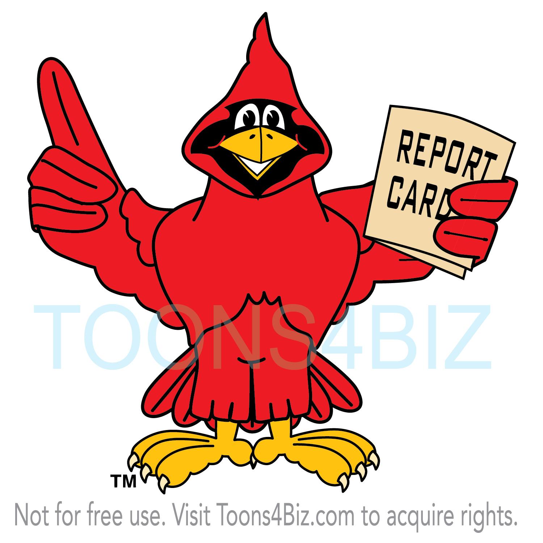 Cardinal Mascot Clipart   School Mascot Clipart