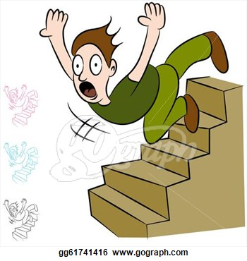 Cartoon Stairs Going Down   Persian Kitten Picture