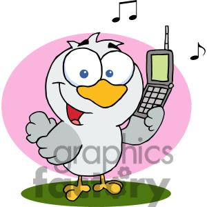 Clipart Of A Calling Bird   Download File To Remove The Watermark