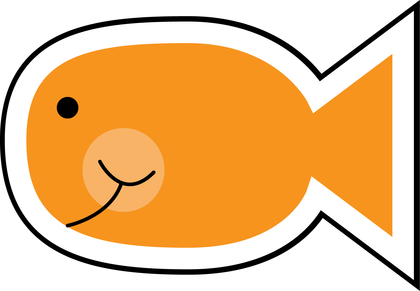 printable fish clipart clipart kid cute fish right click on him to love two teach and get your