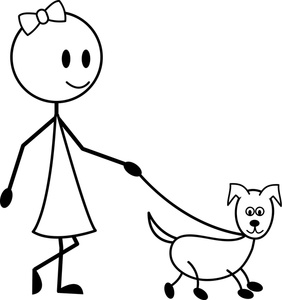 Dog Walking Clipart Image