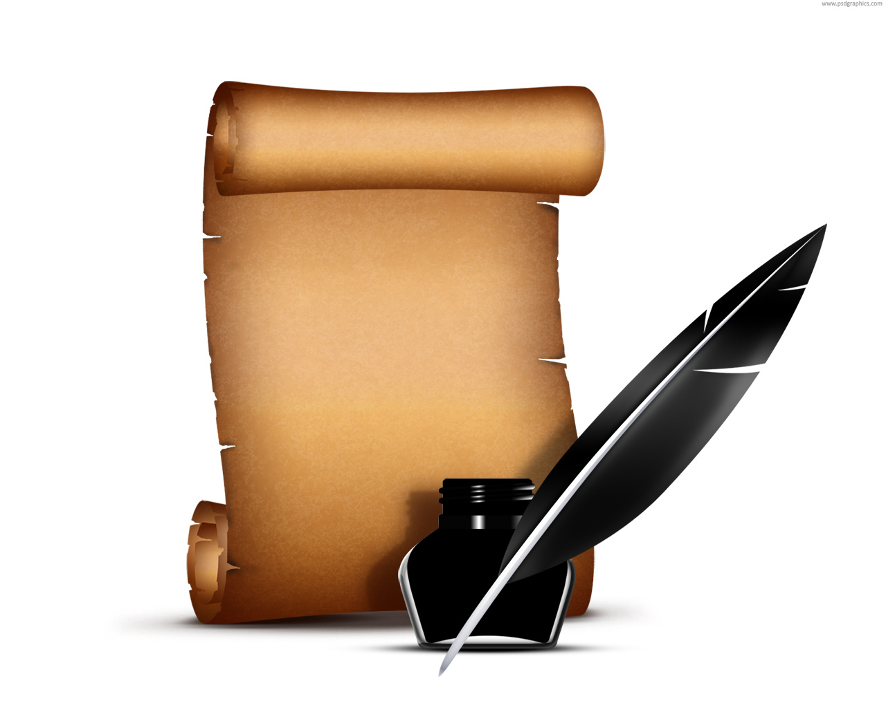 Paper Scrolls And Pens Clipart - Clipart Suggest
