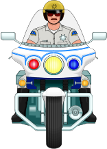 Image  Police   Law Enforcement Clip Art   Policeman On Yamaha