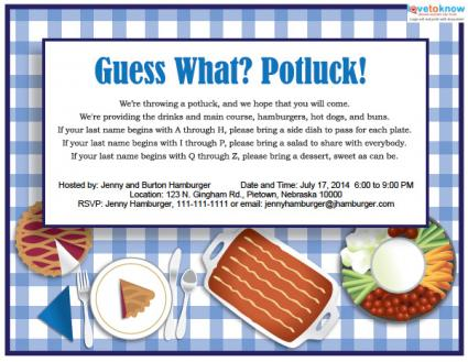 Office Potluck Clipart Printable Potluck Invitation